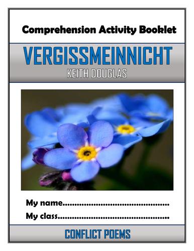 Vergissmeinnicht Comprehension Activities Booklet!