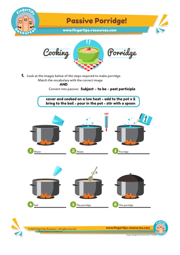 Passive Porridge - Grammar Activity