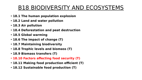 B18.10 Factors affecting food security (TRIPLE)