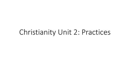 AQA GCSE Religious Studies A (9-1) Christian Practices Revision PPT