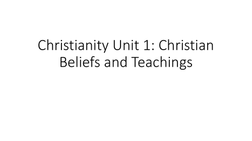 AQA GCSE Religious Studies A (9-1) Christian Beliefs and Teachings Revision PPT