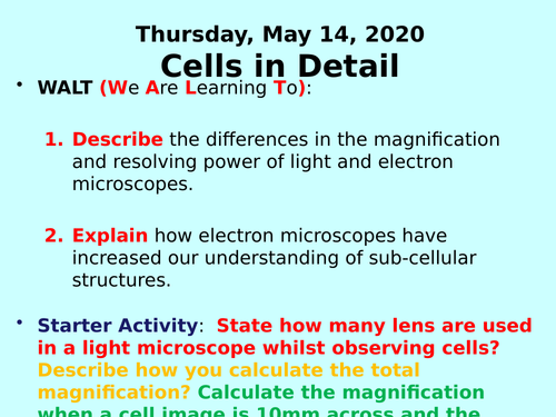 Cells in Detail PPT - GCSE Biology