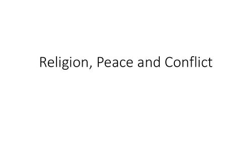 AQA GCSE Religious Studies A (9-1) Theme D: Religion, peace and conflict Revision PPT