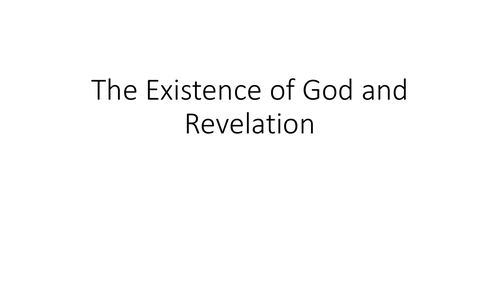 AQA GCSE Religious Studies A (9-1) Theme C: The existence of God and revelation Revision PPT