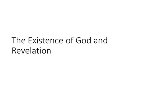 AQA GCSE Religious Studies A (9-1) Theme C: The existence of God and revelation Quotation PPT