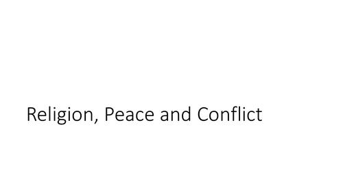 AQA GCSE Religious Studies A (9-1) Theme D: Religion, peace and conflict Quotation PPT