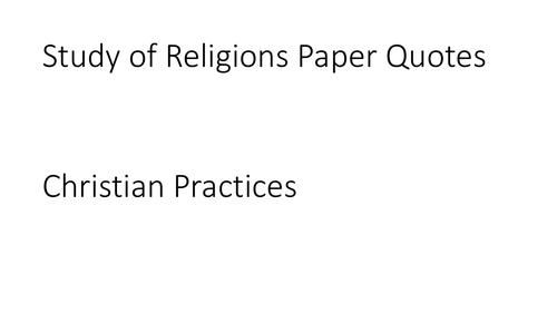 AQA GCSE Religious Studies A (9-1) Christian Practices Quotation PPT