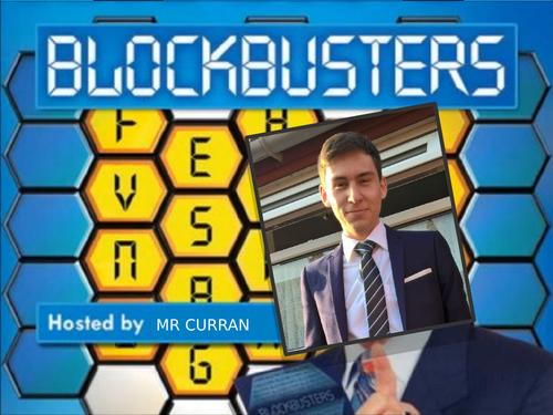 Easy plenary: Blockbusters Template