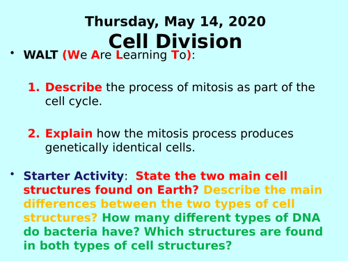 Cell Division PPT - GCSE Biology
