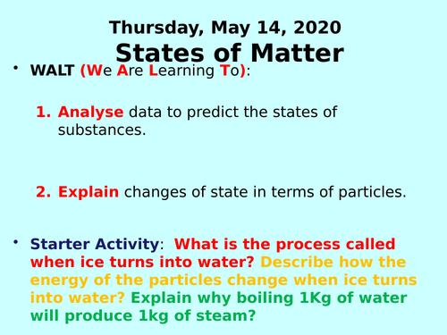 States of Matter PPT - GCSE Chemistry
