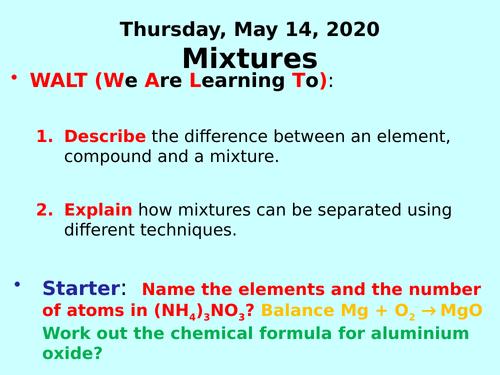 Mixtures PPT - GCSE Chemistry