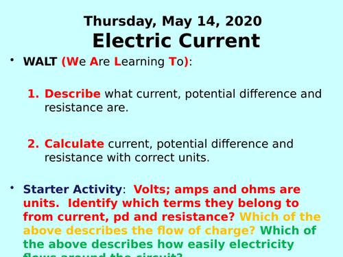 Electric Circuits PPT - GCSE Physics