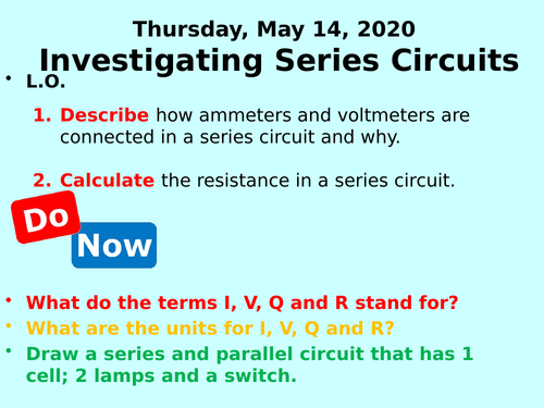 Investigating Circuits PPT (Current, pd and resistance) - GCSE Physics