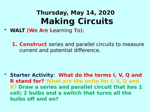 Making Circuits PPT - GCSE Physics
