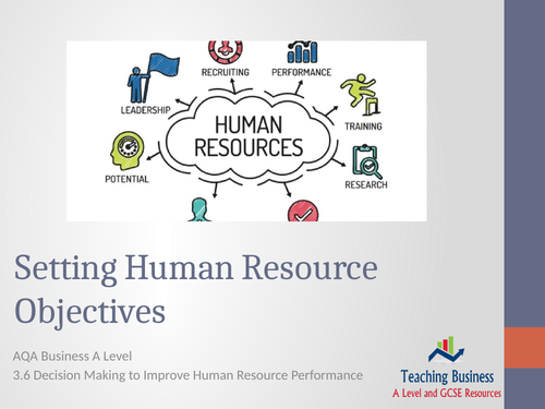 AQA Business - Setting Human Resource Objectives