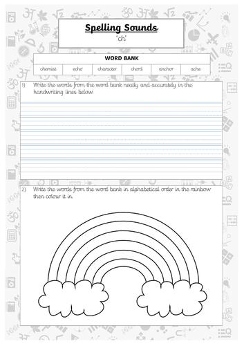 Spelling Practice - ch (2) words