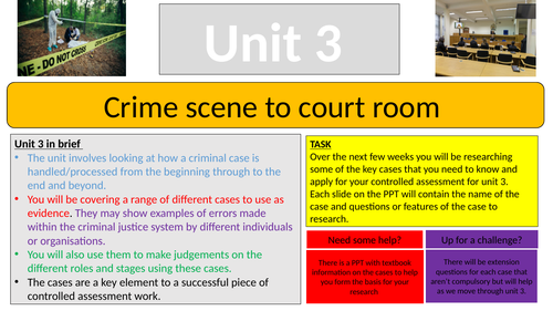 Unit 3 Criminology introduction task
