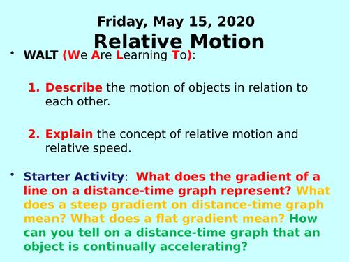 Relative Motion PPT - KS3 Physics