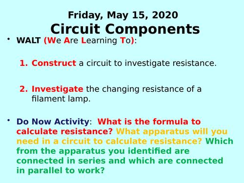 Circuit Components PPT - GCSE Physics