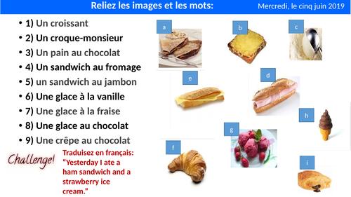 Au Café KS3 French
