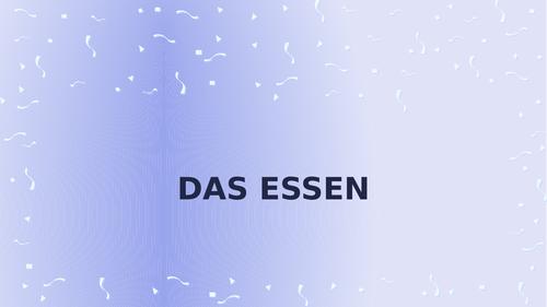 Essen (Food in German) PowerPoint Distance Learning