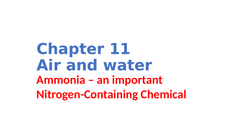 IGCSE Chemistry Chapter 11 Air and water