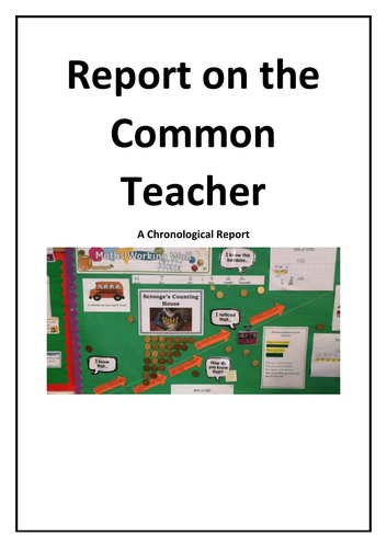 Year 5/6 Short Reading Comprehension - Report on the Common Teacher (Chronological)