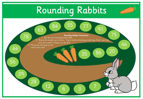 Rounding Rabbits - KS1 Rounding to the Nearest 10 within 100
