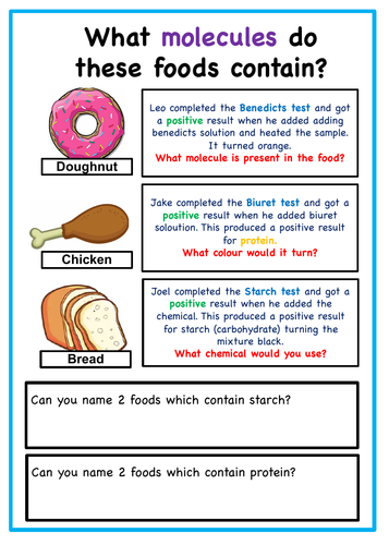 KS3 / KS4 - Food Tests - Workbooklet
