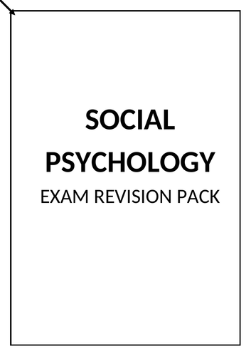 Edexcel Psychology A Level Revision - Social