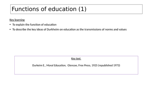 Sociology of Education- Functions of education (1)