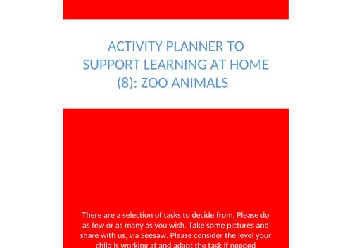 Play Activity Bank: Home School EYFS: Wild Animal Theme