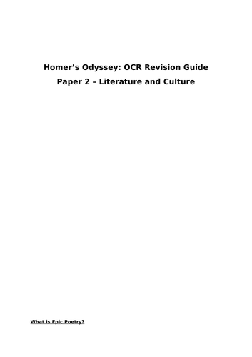 The Odyssey Text Guide - GCSE (OCR)