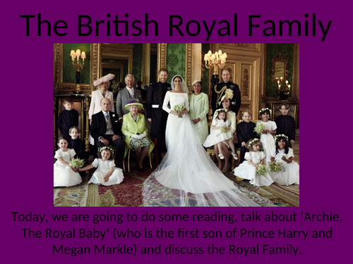 The British Royal Family Introduction and Reading KS2 Year 5