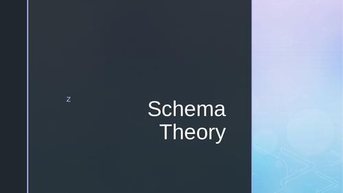 AQA A Level PE - Schema Theory