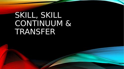 AQA A Level PE - Skill and Transfer