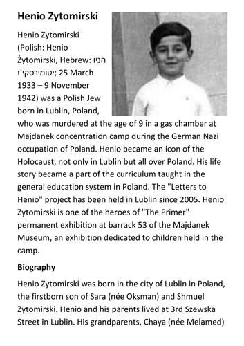Henio Zytomirski Handout