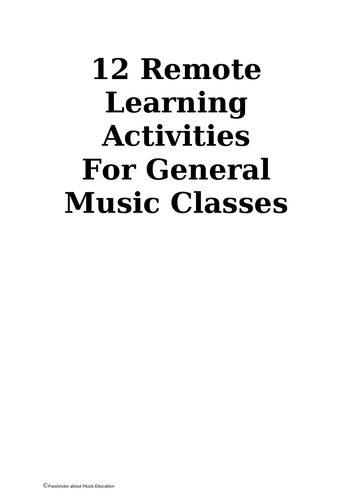 12 fun remote music activities students can complete from home