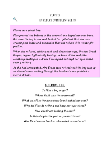 Room 13- Inference