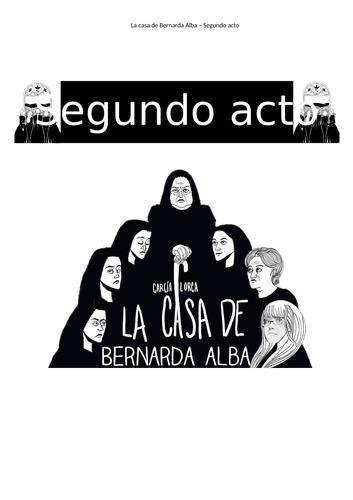 La Casa de Bernarda Alba, act 2