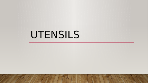 Utensils in English PowerPoint Distance Learning