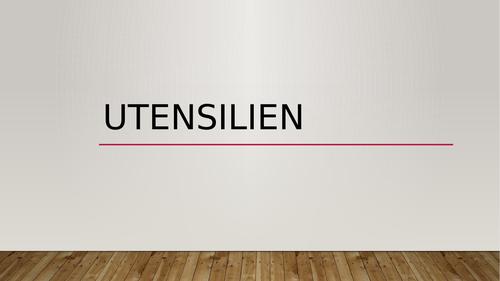 Ustensilien (Utensils in German) PowerPoint Distance Learning