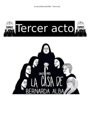La Casa de Bernarda Alba, act 3