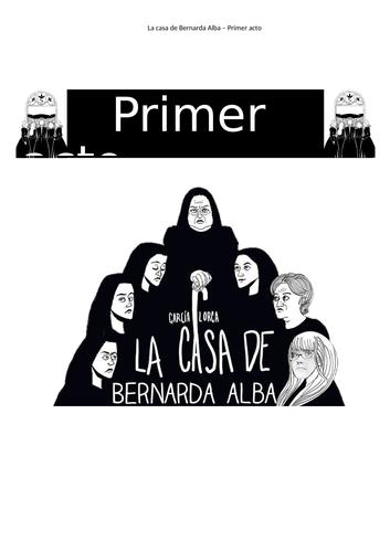 La Casa de Bernarda Alba, acts1,2 and 3