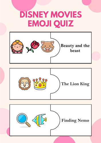 Disney themed educational puzzles