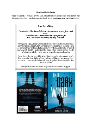 CCEA GCSE English Language Reading Media Texts: On a Dark Wing
