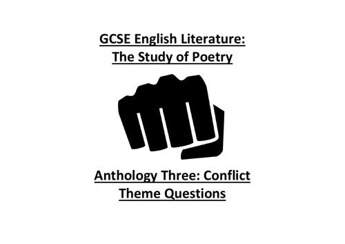Conflict Poetry Theme Questions (CCEA GCSE)
