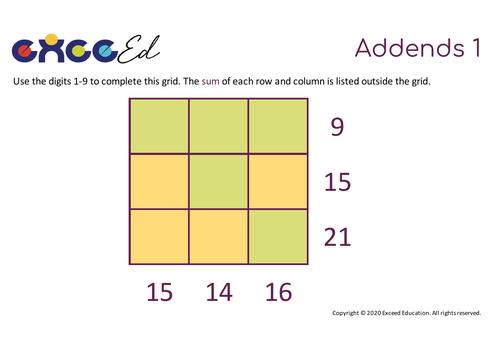 Starter Grids - Reasoning Starters (Free)