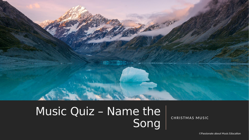 Christmas Song Music Quiz / Game using powerpoint