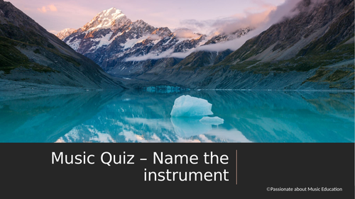 Musical Instrument identification quiz or game - powerpoint